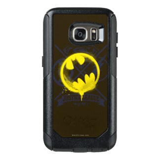 Bat Symbol Tagged Over Justice League OtterBox Samsung Galaxy S7 Case