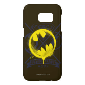 Bat Symbol Tagged Over Justice League Samsung Galaxy S7 Case