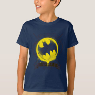 Bat Symbol Tagged Over Justice League T-Shirt