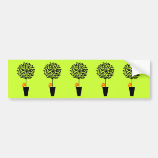 Bat Topiary Bumper Sticker