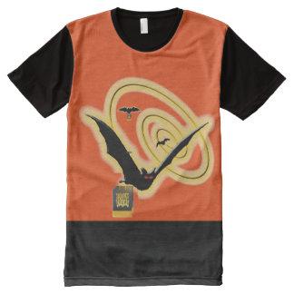 Bat trick treat night sky orange All-Over print shirt
