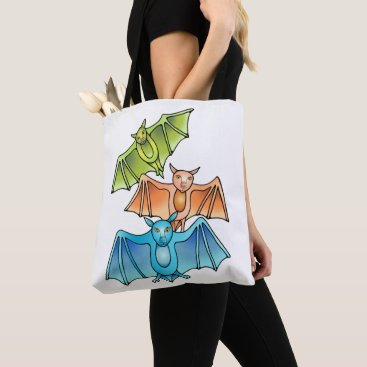 Halloween Themed Bat Trio Tote Bag