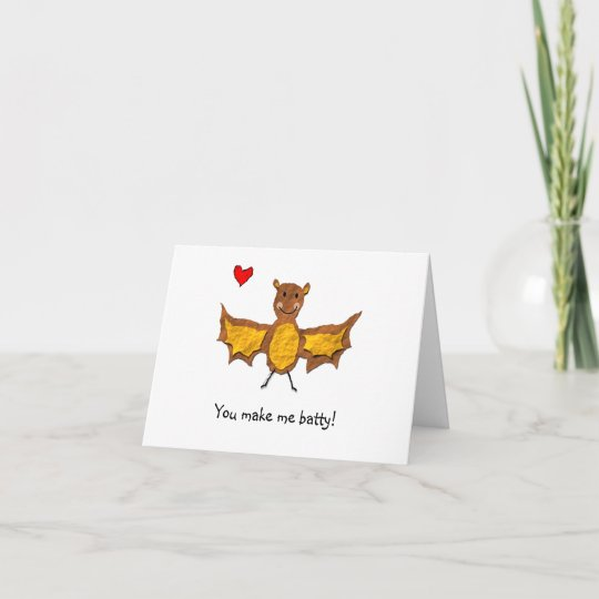 Image of: Couples Zazzle Bat Valentines Day Card Animal Pun Series Zazzlecom