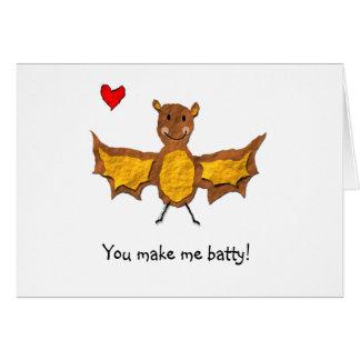 Bat Valentine's Day Card - Animal Pun Series