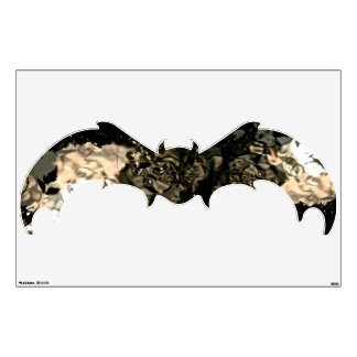 BAT WALL DECAL WITH ABSTRACT PATTERNS
