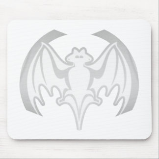 Bat White Inv The MUSEUM Zazzle Gifts Mouse Pad