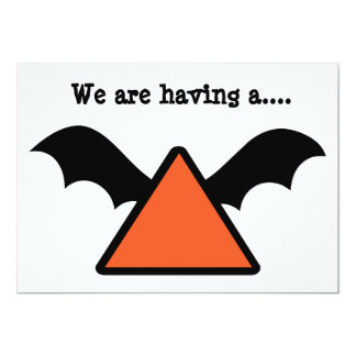 Bat wing design Halloween Party invite