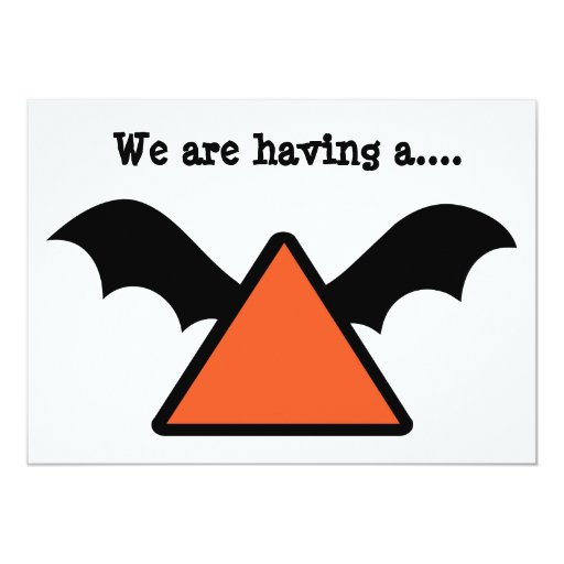 Bat wing design Halloween Party invite