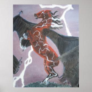 Bat-winged Pegasus Poster