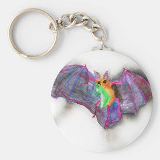 Bat with Dinner Keychain