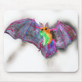 Bat with Dinner Mousepads
