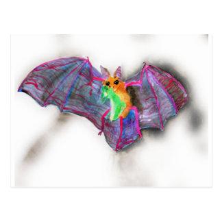 Bat with Dinner Postcard