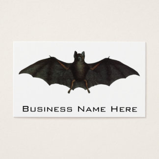 Bat With Open Wings Business Card