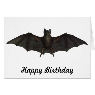 Bat With Open Wings Card