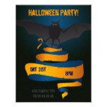 Bat with ribbon Halloween Party invitation