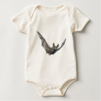 Bat with wings on the upstroke baby bodysuit
