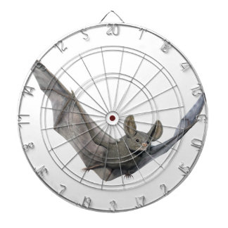 Bat with wings on the upstroke dartboard with darts