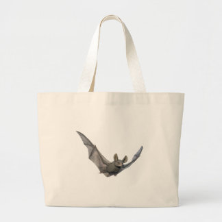 Bat with wings on the upstroke large tote bag