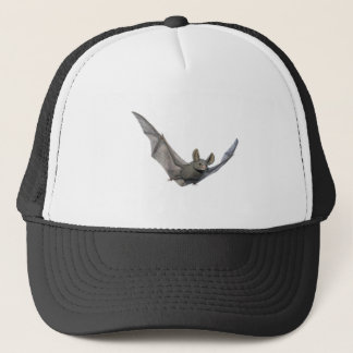 Bat with wings on the upstroke trucker hat