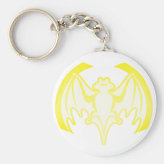 Bat Yellow Inv The MUSEUM Zazzle Gifts Keychain