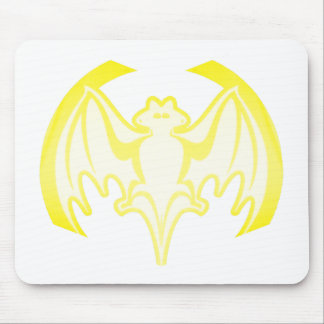 Bat Yellow Inv The MUSEUM Zazzle Gifts Mouse Pad