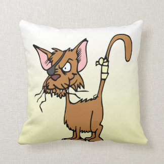 Bata para arriba el gato del dibujo animado cojines