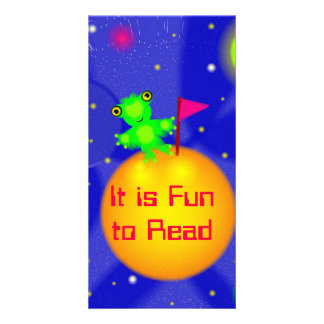 Bata the Space Bat Designed Book Mark Card