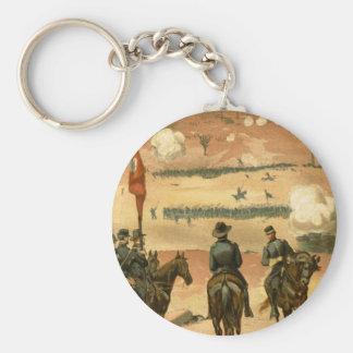 Batalla americana de guerra civil de Chattanooga Llavero Redondo Tipo Pin