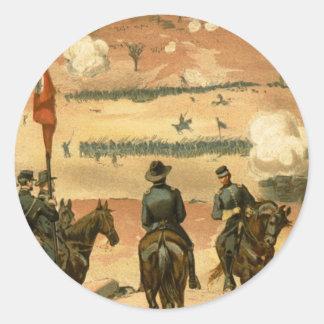 Batalla americana de guerra civil de Chattanooga Pegatina Redonda