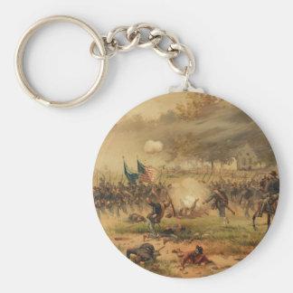Batalla americana de la guerra civil de Antietam Llavero Redondo Tipo Pin