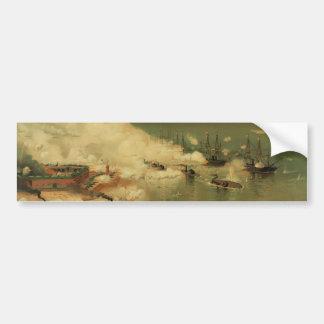 Batalla americana de la guerra civil de la bahía m pegatina para auto
