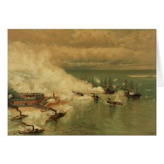 Batalla americana de la guerra civil de la bahía m tarjeta de felicitación