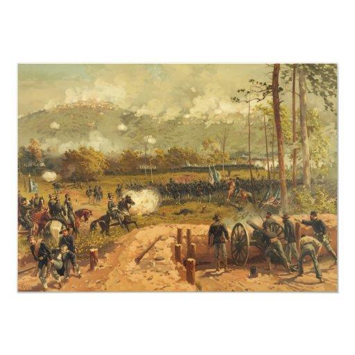 """Batalla americana de la guerra civil de la montaña invitación 5"""" x 7"""""""