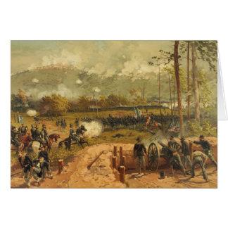 Batalla americana de la guerra civil de la montaña tarjeta de felicitación