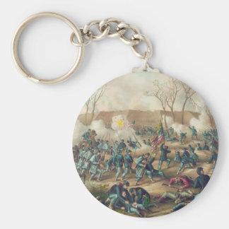 Batalla americana de la guerra civil del fuerte llavero redondo tipo pin