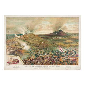 Batalla americana de la guerra civil del invitación 12,7 x 17,8 cm
