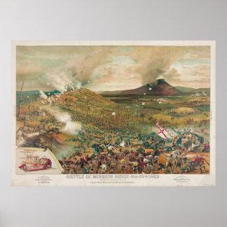 Batalla americana de la guerra civil del misionari póster