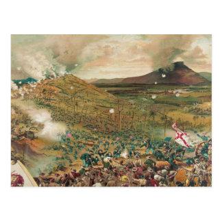 Batalla americana de la guerra civil del misionari tarjeta postal