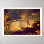 Batalla americana de la guerra civil del puerto el poster