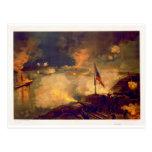 Batalla americana de la guerra civil del puerto el postales