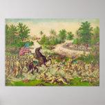 Batalla americana filipina de la guerra de Quingua Póster