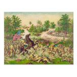 Batalla americana filipina de la guerra de Quingua Tarjeta Postal
