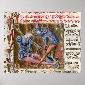 Batalla crónicas de Gómez Martin El Cid 'de Poster