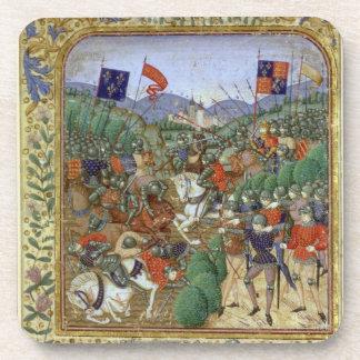 Batalla de Agincourt, el 25 de octubre de 1415 (w/ Posavasos