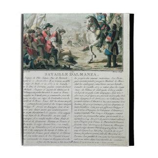 Batalla de Almansa, el 25 de abril de 1707, grabad