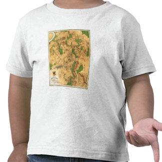 Batalla de Antietam - mapa panorámico 3 de la Camisetas