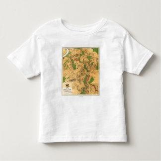 Batalla de Antietam - mapa panorámico 3 de la Camiseta