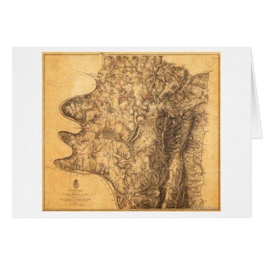 Batalla de Antietam - mapa panorámico 6 de la guer Tarjeta De Felicitación