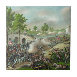 Batalla de Antitam Azulejo Cuadrado Pequeño