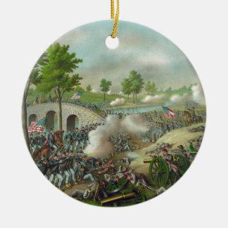 Batalla de Antitam Adorno Redondo De Cerámica